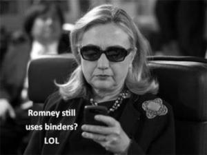 Romeny still uses binders? LOL