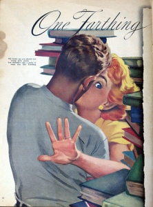 Woman magazine (UK) Sept 3, 1955 - One Farthing for Romance ~ Vince Connare