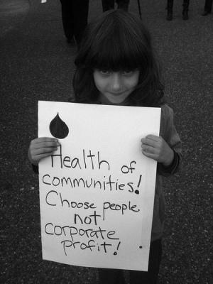 Protesting CAPP - Caelie Frampton. Photo taken on September 26, 2012; shared on flickr creative commons.