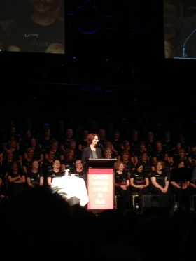 Julia Gillard spoke at the Victorian Women's Trust event yesterday, 'Credit where credit is due'. What a lady!